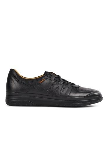 Dr.Flexer 111902 Siyah Hakiki Deri Erkek Günlük Ayakkabı Siyah